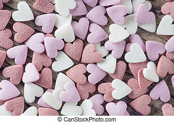 Sweet hearts - Various colors of sweet hearts for...