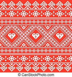Traditional Ukrainian or Belarusian folk art white...