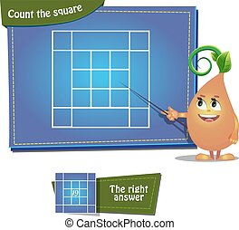 Count the squares 6 ansver