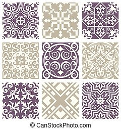 Classic vintage elegant pastel violet seamless abstract pattern