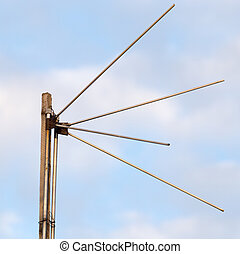 antenna on a background of blue sky