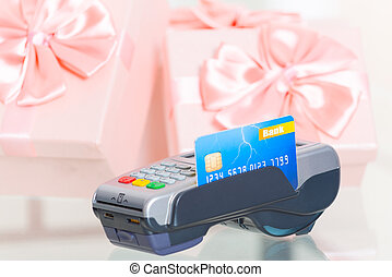 Paying with credit or debit card for a gifts - Wireless...