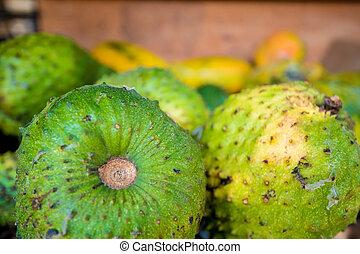 soursop, fruta, asiático, Mercado