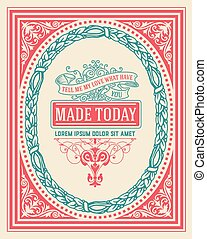 Vintage design with frame. Vector resources.