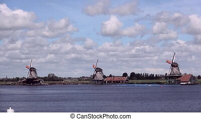 View on Zaanse Schans Mills. - The Zaanse Schans in The...