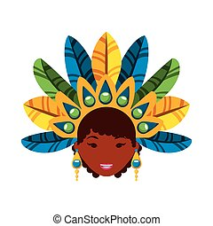 beautiful carnival dancer character vector illustration...