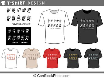 t shirt design with emoticons - Illustration of T-Shirt...