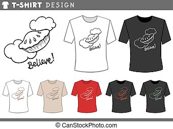 t shirt design with pie in the sky
