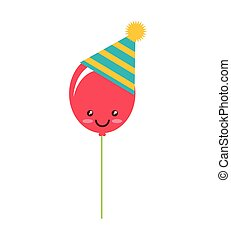 party balloon isolated icon vector illustration design