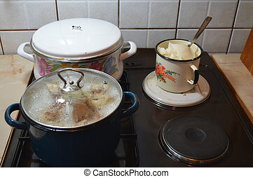 Stovetop - Cooking food on the stove