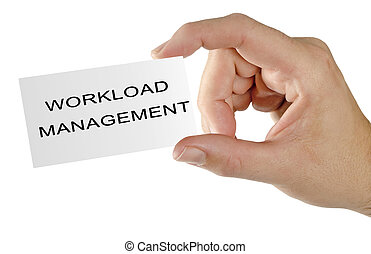 Business card with workload management