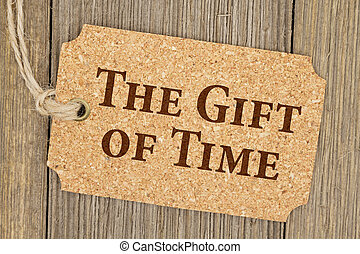 Old fashion time gift tag