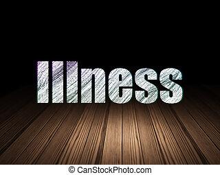 Medicine concept: Illness in grunge dark room