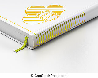 Cloud computing concept: closed book, Database With Cloud on...