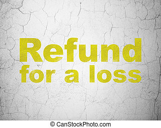 Insurance concept: Refund For A Loss on wall background