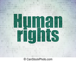 Political concept: Human Rights on Digital Data Paper...