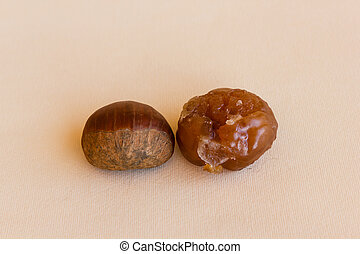 transformation of a chestnut - the chestnut worked becomes...