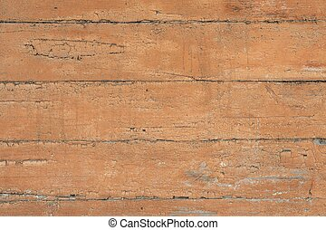 Old cracked wooden wall painted brown