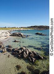 Isle of Mull Scotland beautiful Scottish beach at Fidden...