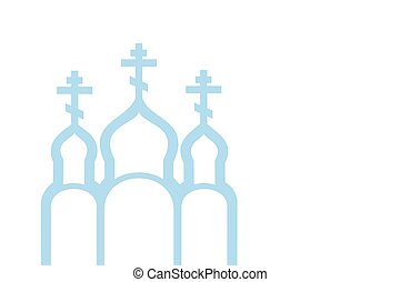 Vector illustration of Orthodox Church, vector eps 10 background