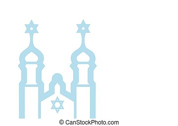 Vector illustration of synagogue, vector eps 10 background