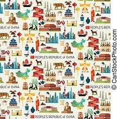 China Travel Collection - China Seamless Flat Pattern....