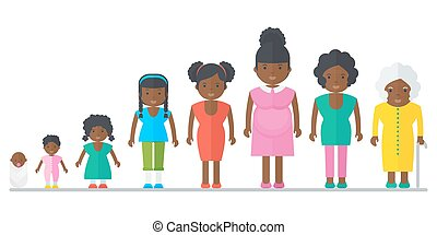 aging concept of african female - Aging concept of African...