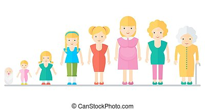 aging concept of female - Aging concept of female and male...