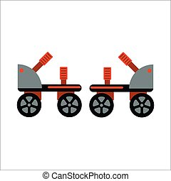 Rollers boot icon isolated - Roller skate boot icon...