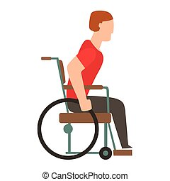 Trauma accident wheelchair safety vector people silhouette -...