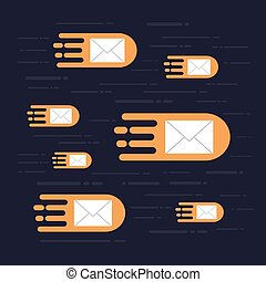hi speed email - email fly on sky, hi speed data