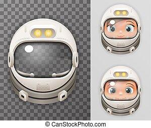 Cosmonaut Helmet Realistic 3d Astronaut Spaceman Boy Girl...