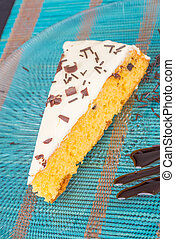 Cake wedge - Homemade glazed cake wedge decorated with...