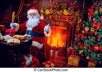 magic time - Christmas, mail of Santa Claus. Santa Claus at...