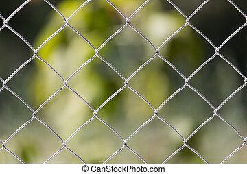 Background of the metal mesh on the nature