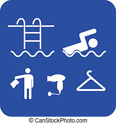 swiming pool services icon vector illustration sign