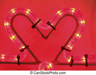 Weihnachtsdekoration Erleuchtetes Herz