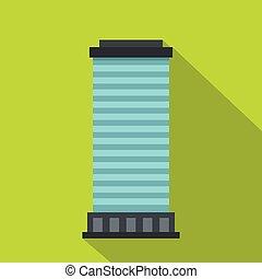 Column icon, flat style