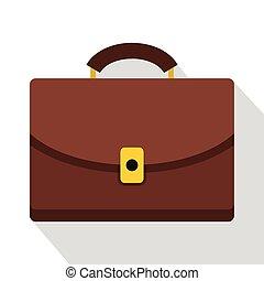 Diplomat icon, flat style - Diplomat icon. Flat illustration...