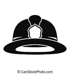Fireman helmet icon, simple style