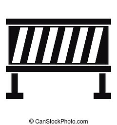 Traffic barrier icon, simple style - Traffic barrier icon....