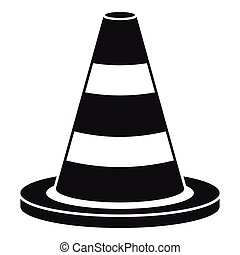 Traffic cone icon, simple style - Traffic cone icon. Simple...