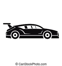 Rally racing car icon, simple style - Rally racing car icon....