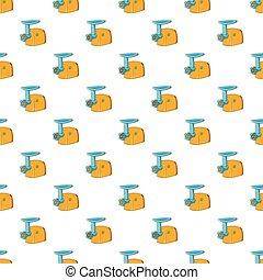 Electric grinder pattern, cartoon style - Electric grinder...