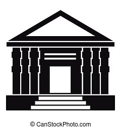 Colonnade icon, simple style - Colonnade icon. Simple...
