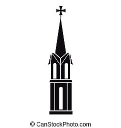 Church icon, simple style - Church icon. Simple illustration...