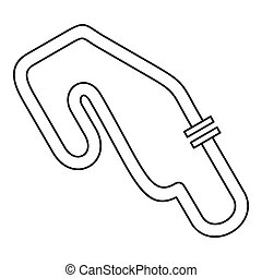Speedway icon, outline style - Speedway icon. Outline...