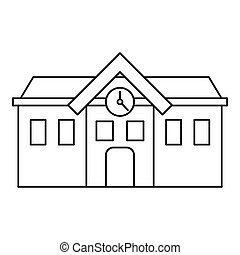 Chapel icon, outline style - Chapel icon. Outline...