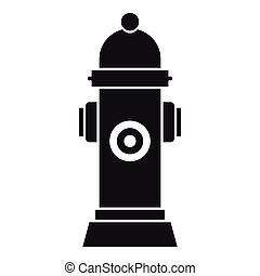 Hydrant icon, simple style - Hydrant icon. Simple...