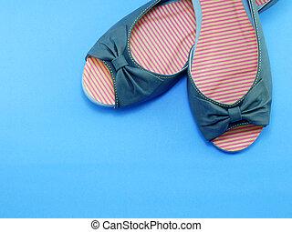 pair ladies flat shoes